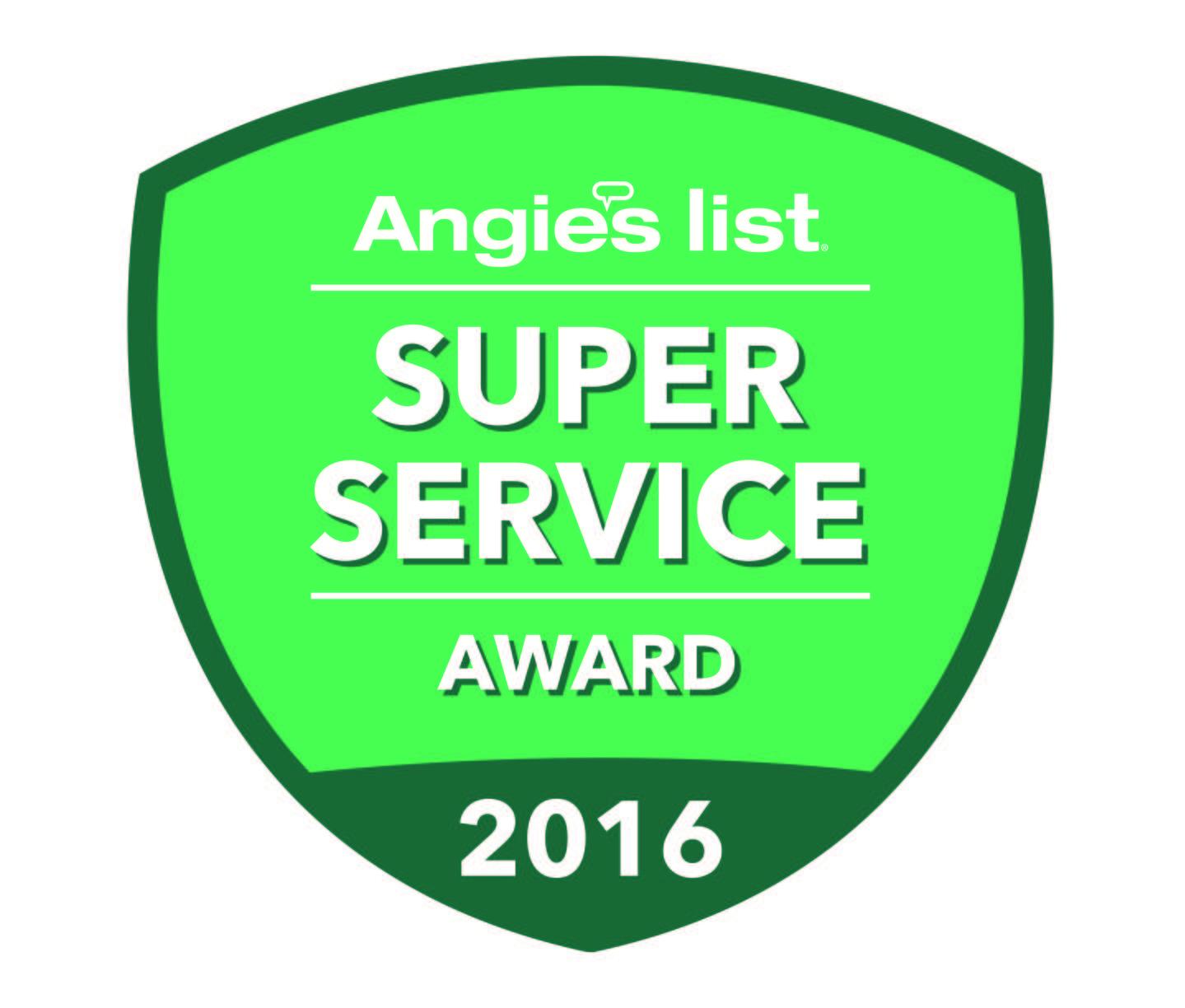 2016 Angies list Super Service award winners