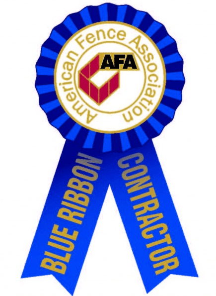 Blue Ribbon Fence Contractor 2013 (Given by American Fence Association)