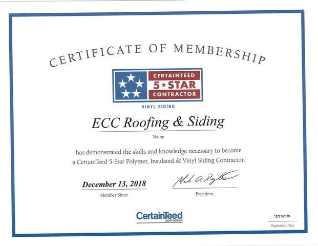 5 star certainteed roofing contractor!