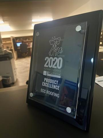 Owens Corning 2020 Product Excellence Award