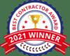 2021 Best Contractor Award - Arrow Renovation