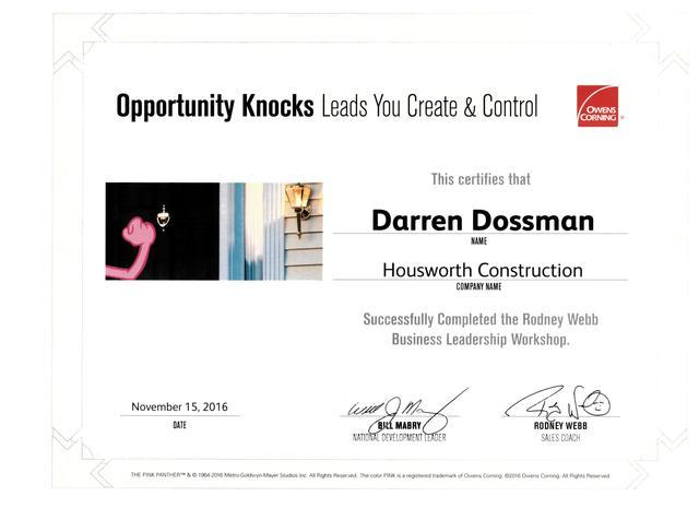 Owens Corning Opportunity Knocks Training Seminar