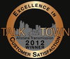 Talk of the Town Excellence in Customer Satisfaction, 2012