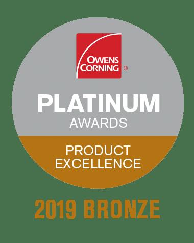 Owens Corning Platinum Award