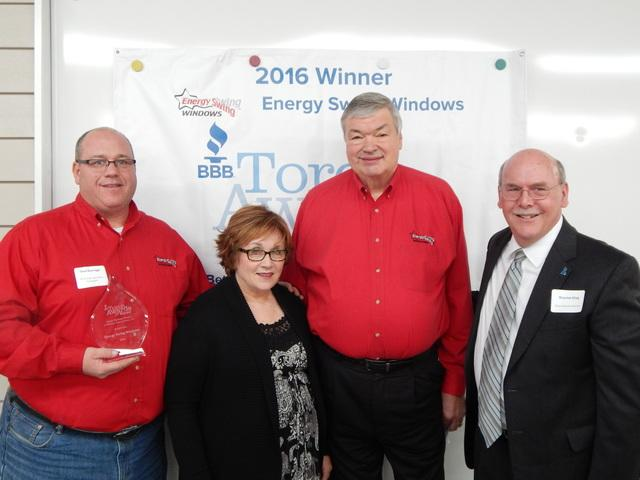 Winner 2016 Western PA Better Business Bureau Torch Award For Ethics