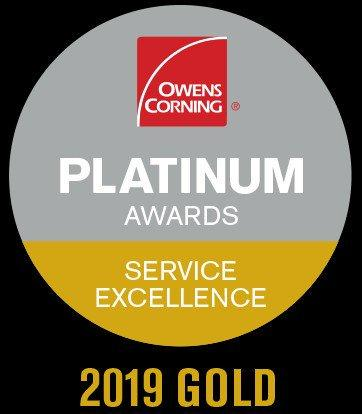 Owens Corning Gold Product Excellence Award