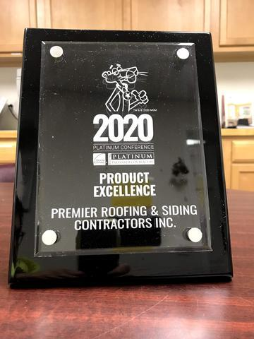 2020 Owen's Corning Product Excellence Award
