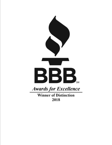 BBB Distinction Award for Excellence 2018
