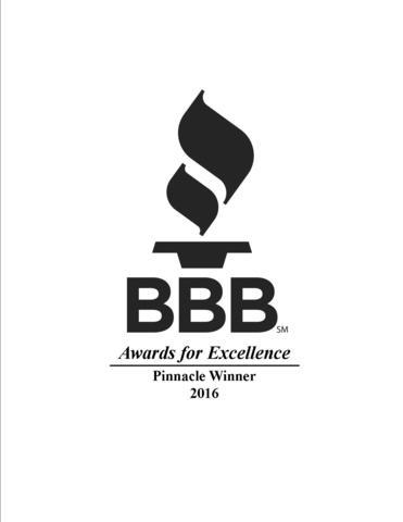 BBB Distinction Award for Excellence 2019