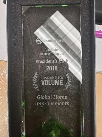 James Hardie Siding 2018 Top Volume Achiever