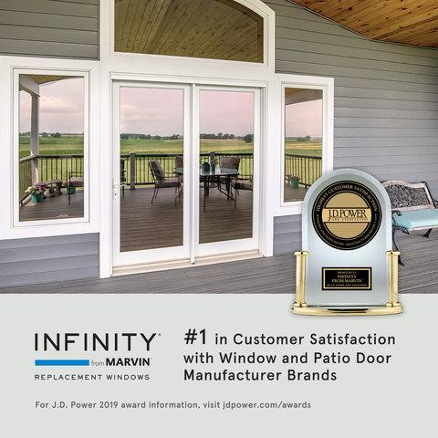 INFINITY WINDOWS FROM MARVIN RANKED #1 IN J.D. POWER STUDY