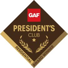 2018 GAF President's Club Residential Award