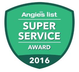2016 ANGIE'S LIST SUPER SERVICE AWARD