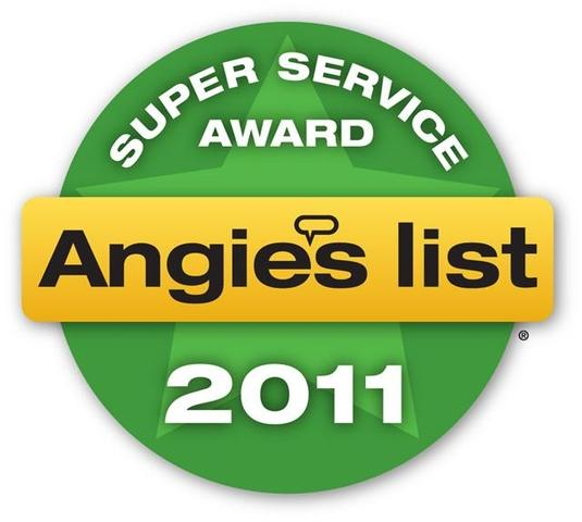 Angie's List Super Service Award, 2011