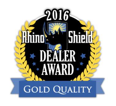 2016 Rhino Shield Gold Quality Award