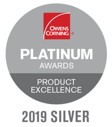 Owens Corning Platinum Award for Product Excellence