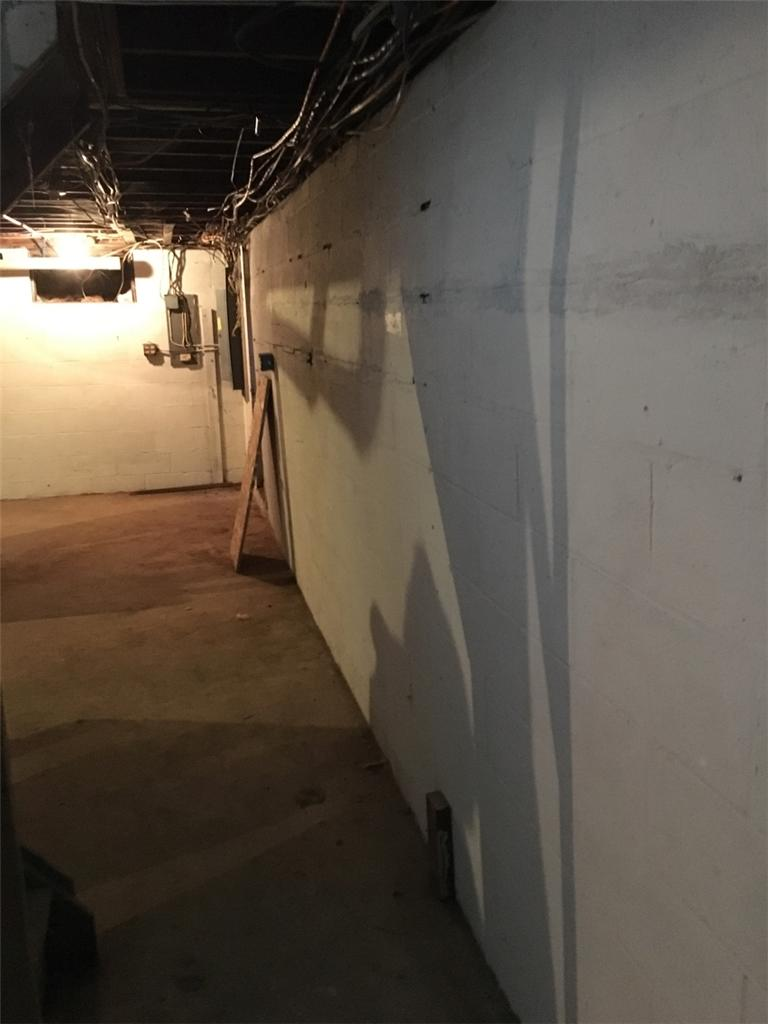 Bowing Wall Repair in Colonie, NY - Before Photo