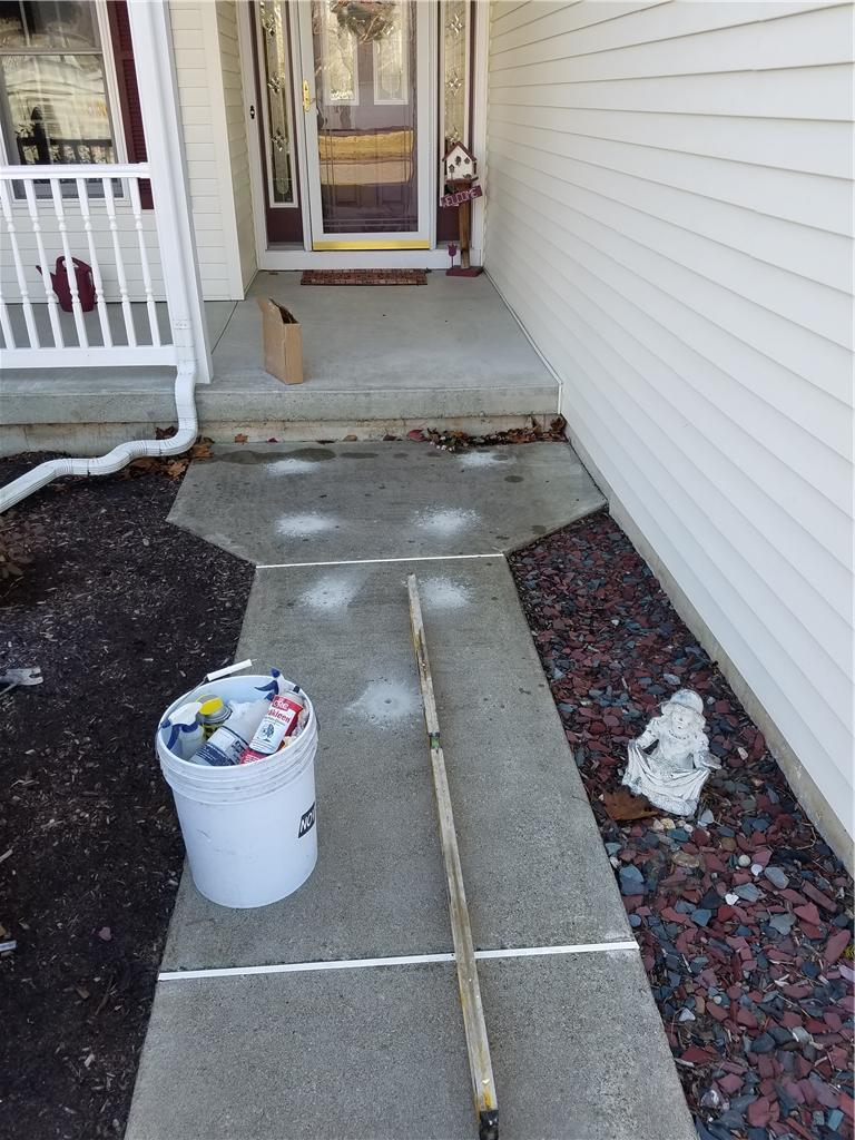 Lifting  a Walkway in Albany, NY - Before Photo