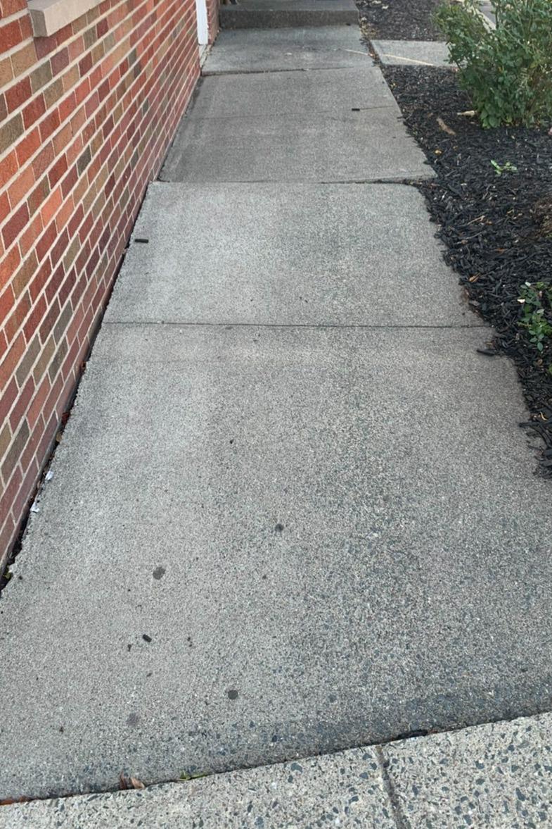 Sidewalk Repair in Cohoes - Before Photo