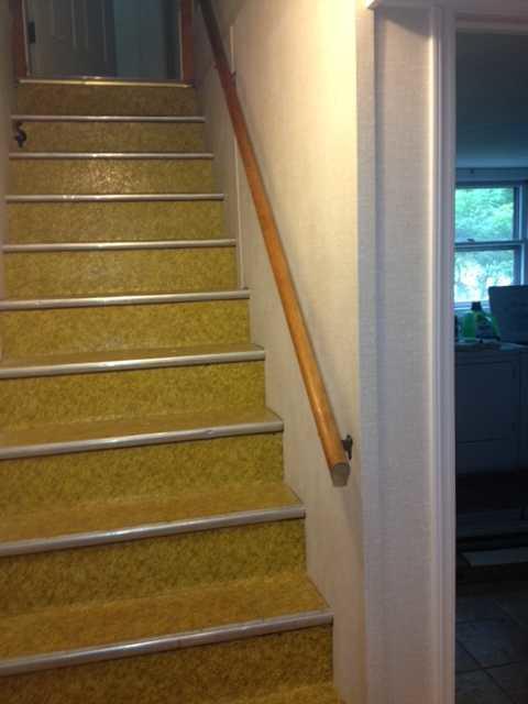 New Everlast Wall on Stairs in Castleton on the Hudson, NY - After Photo