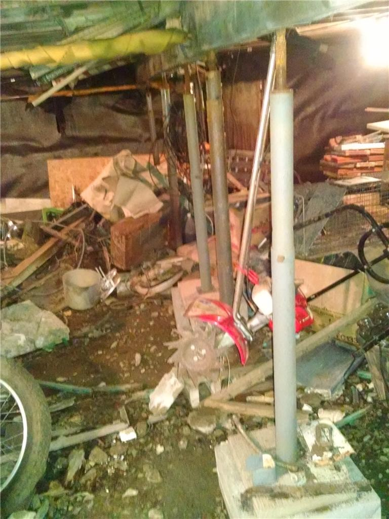 Crawl Space Stabilized in Melrose, New York  - Before Photo