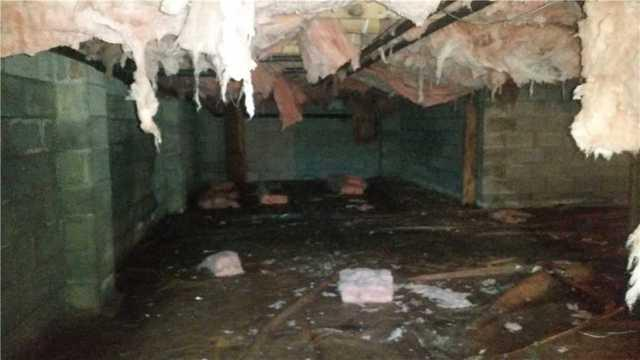 Crawlspace Encapsulation in Haines Falls, NY - Before Photo