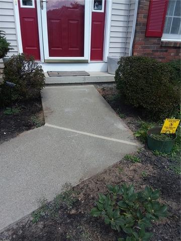 Sinking Walkway Repair in Albany, NY