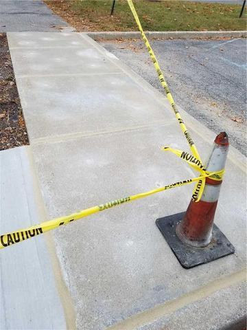 Sinking Sidewalk Repair in Schenectady, NY