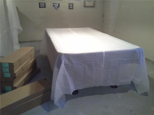 ThermalDry Elite Plank Flooring Installation in Ballston Lake, NY - Before Photo