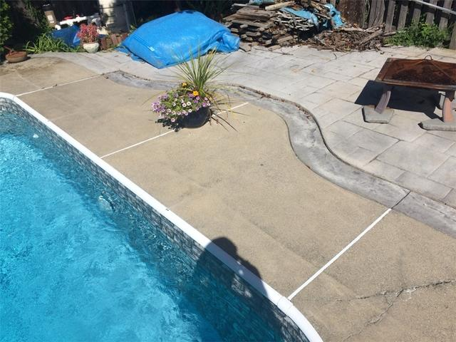 Pool Deck Repair in Latham, NY - Before Photo