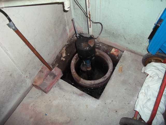 TripleSafe Sump Pump - Before Photo