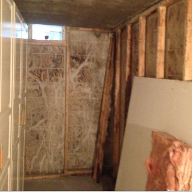 Wet Basement Cold Storage Area, St. Thomas ON - Before Photo