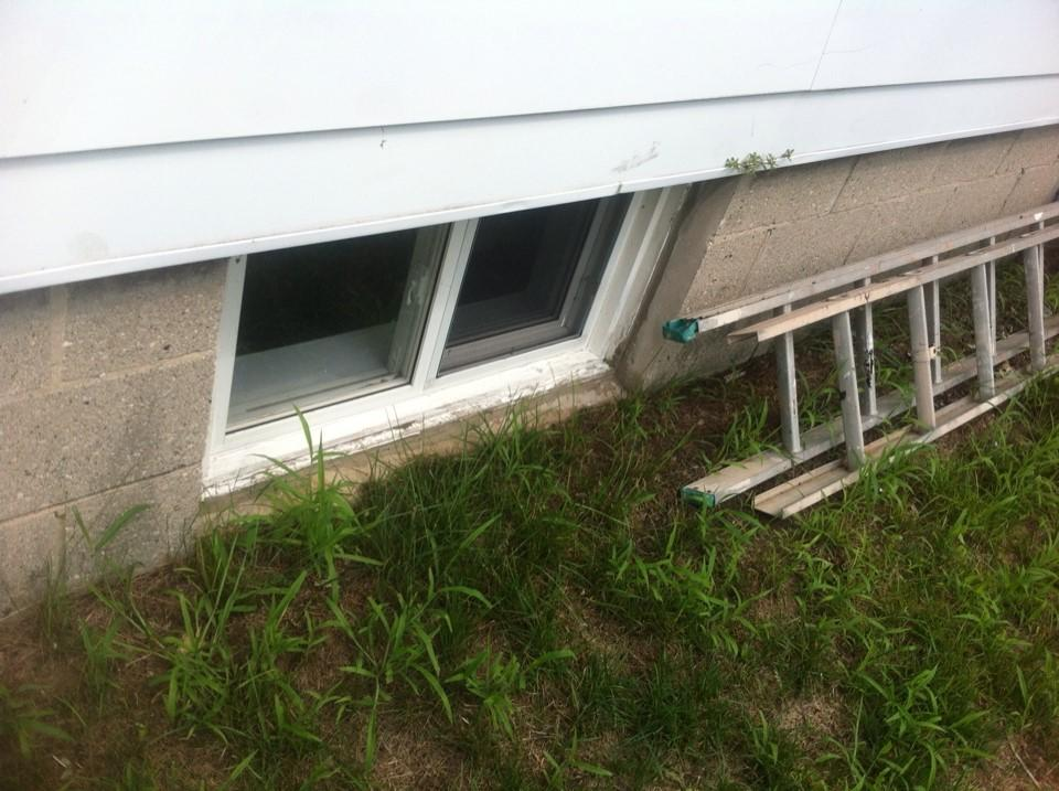 Window Well Installation in Strattfordville, ON - Before Photo