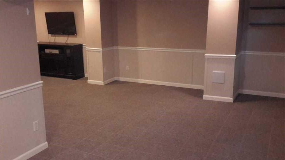 Finishing a Leaky Basement - After Photo