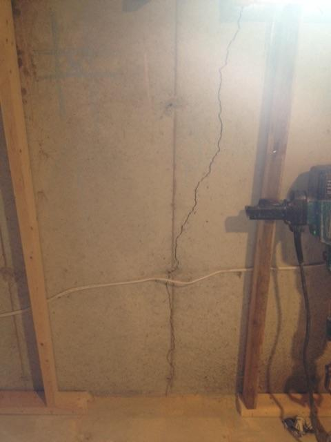 Foundation Crack Repair in London, ONT - Before Photo