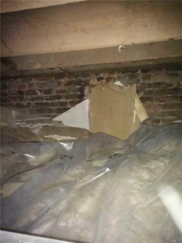 Crawl Space Repair in Windsor, ON - Before Photo