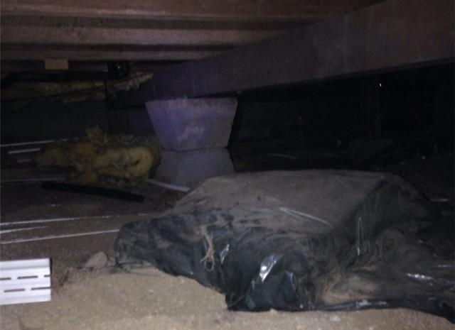 Crawl Space Before and After, Kent County ON