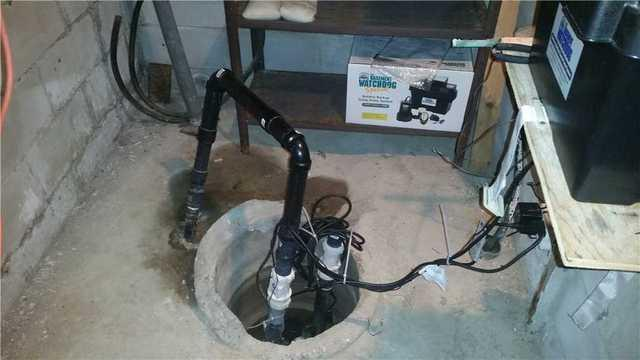 Updated Sump Pump to Help Keep Basement Dry in Chatham, ON