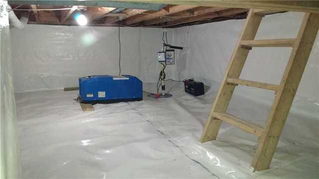 A Healthy, Usable Crawl Space in Wallaceburg, ON