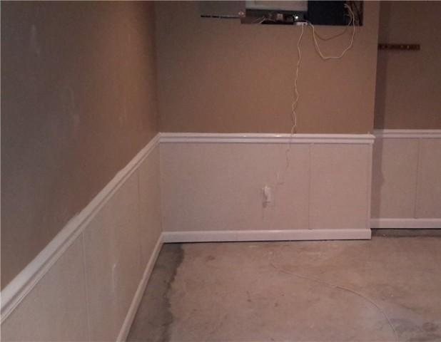 Water Damage in a Finished Basement in Tecumseh, ON