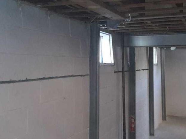 Crack Hidden Behind Drywall in Amherstburg Foundation