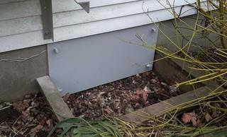 Sealing a Crawl Space Access, Southwestern ON