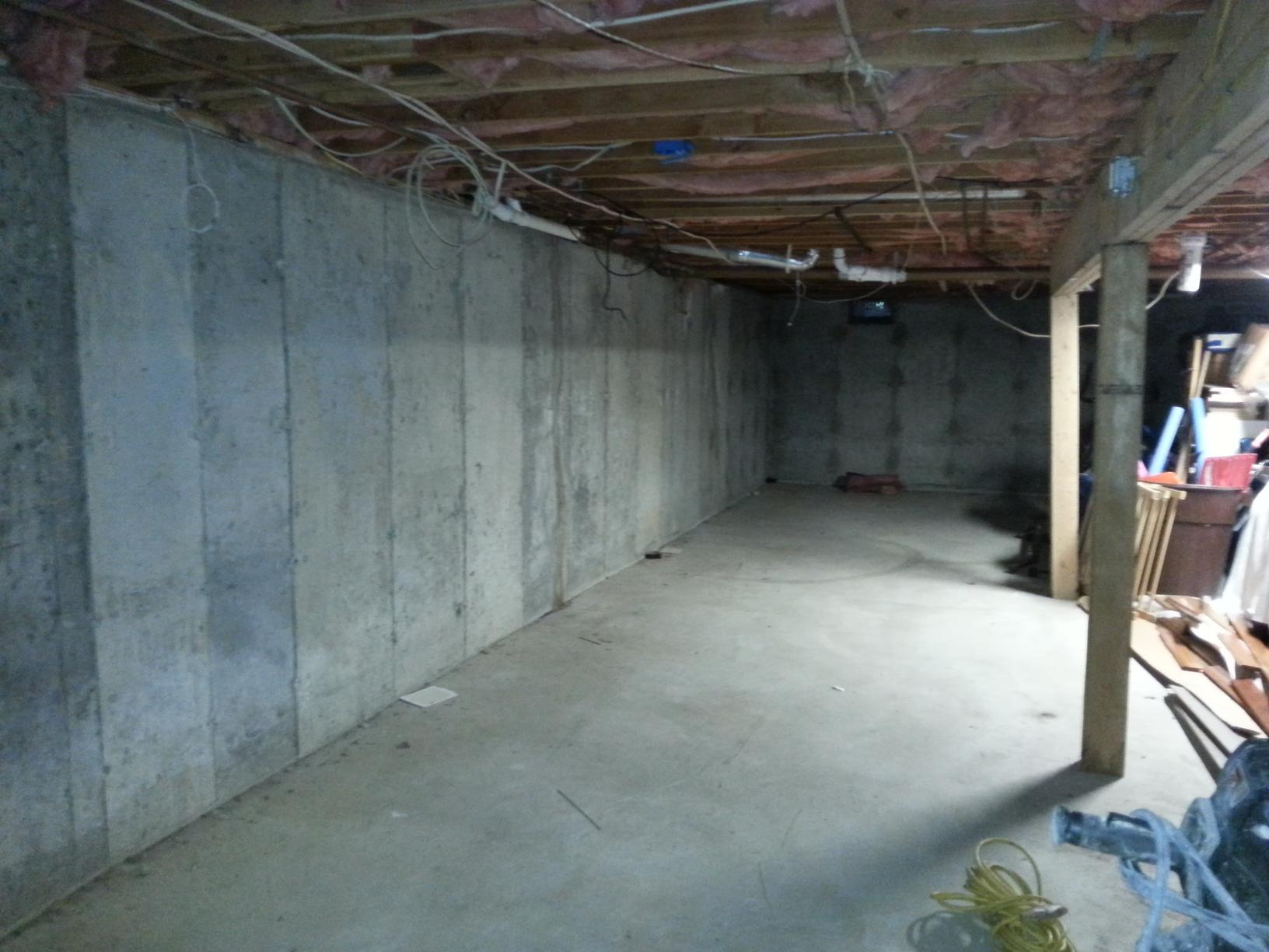 Drainage System and Sump Pump in Mamaroneck, Ny - Before Photo