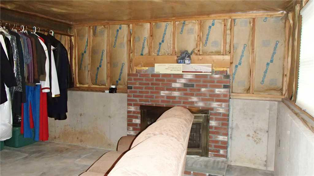 Finished Basement in Wallingford, CT - Before Photo