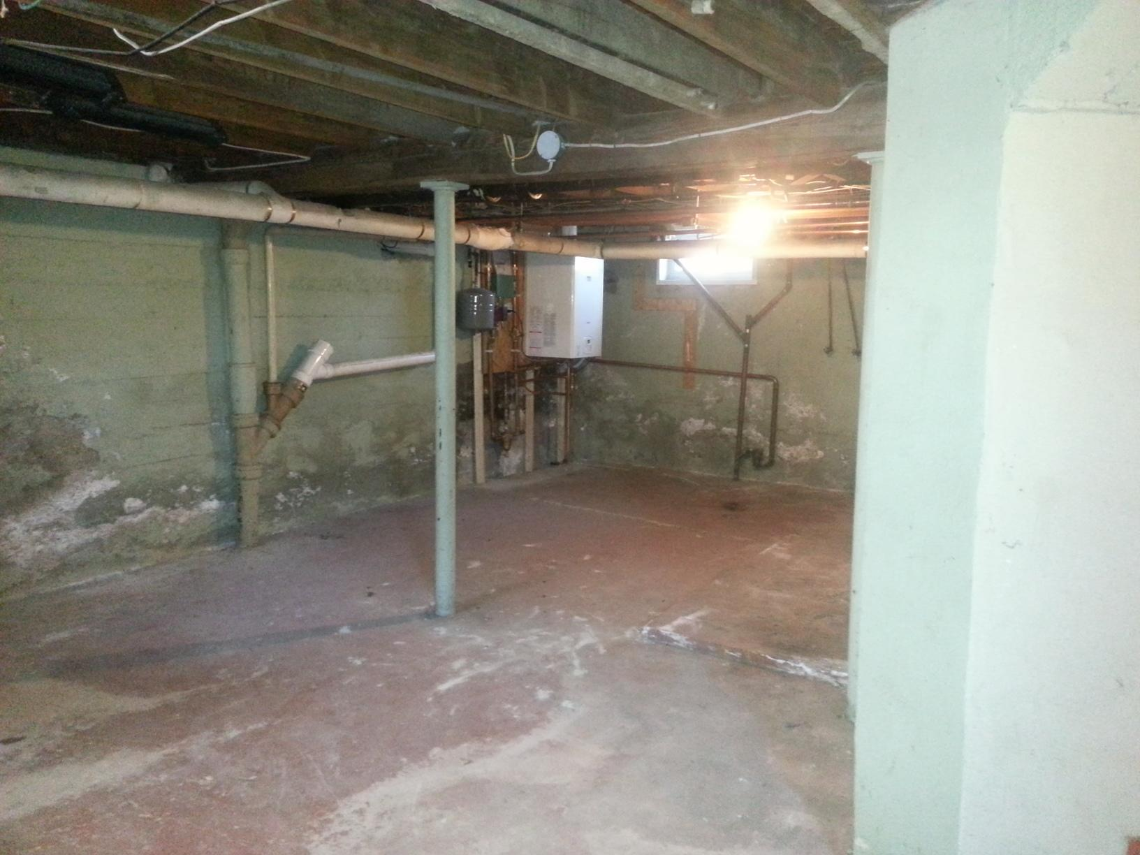 Fully finished basement in East Berlin!  - Before Photo