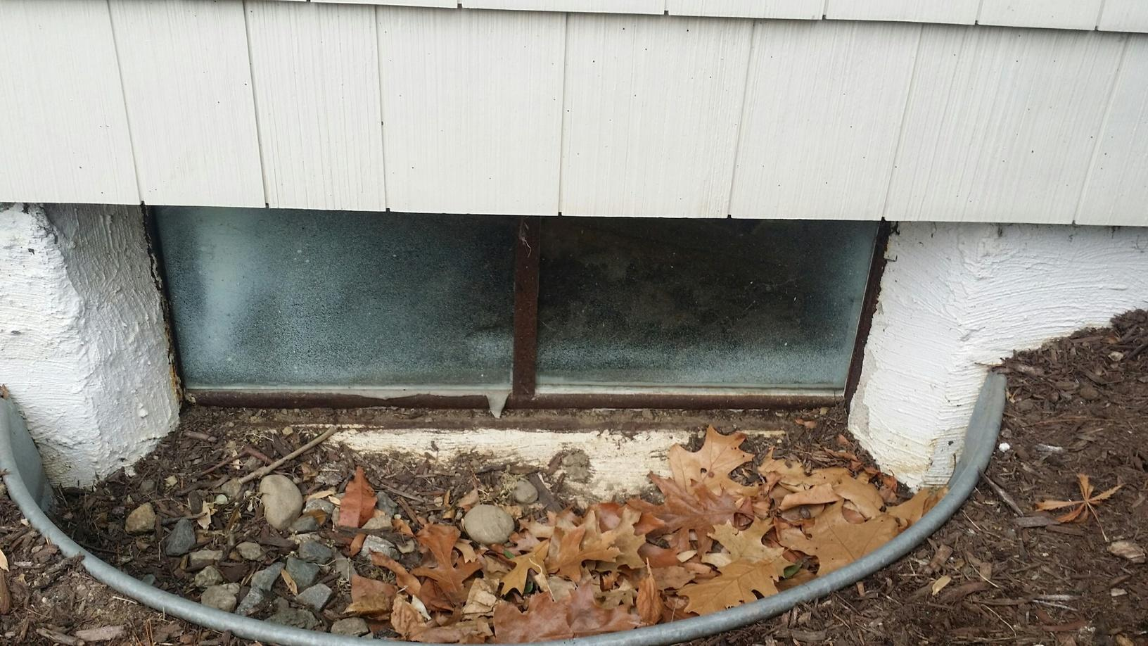 Sun House Window Well in Milford, CT - Before Photo