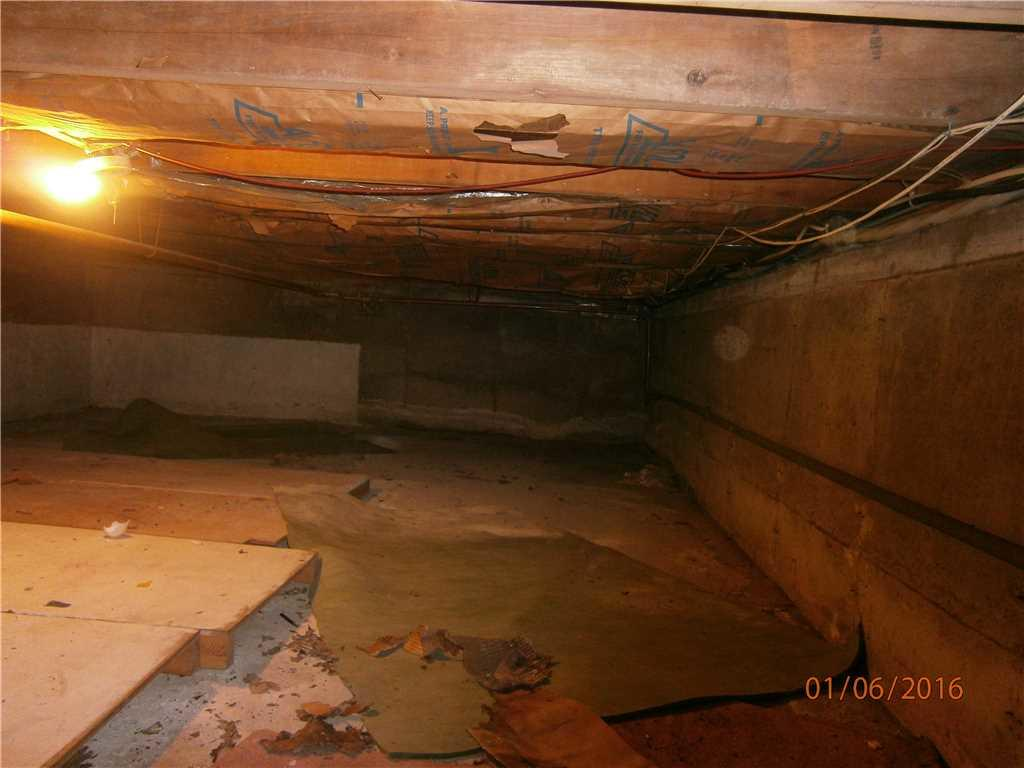Crawl Space repair in Hartsdale NY - Before Photo