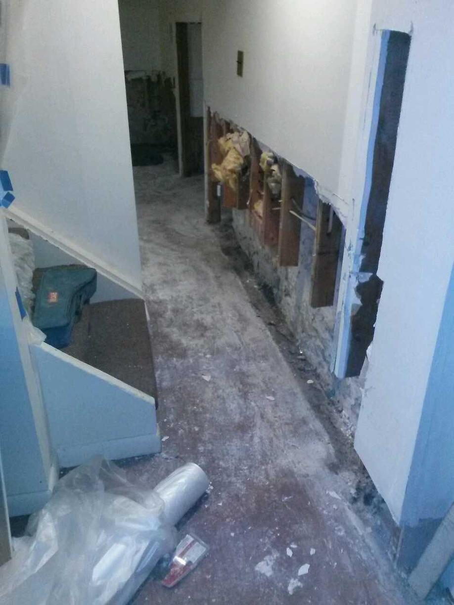 Scarsdale, NY Basement Waterproofing. - Before Photo
