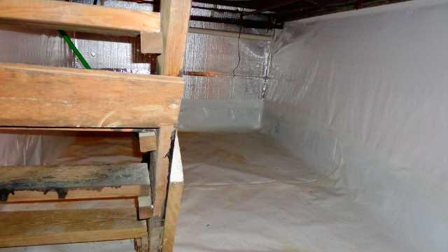 Crawlspace Waterproofing in Larchmont, NY - After Photo