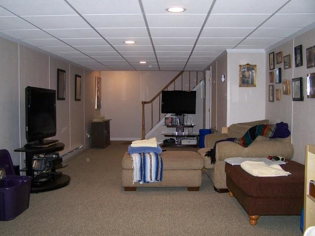 Before and After Basement Renovation- Ashford, CT